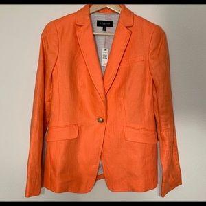 Talbots orange creamsicle blazer